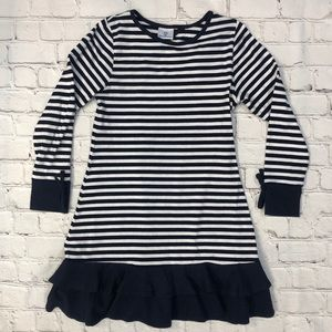 Florence Eiseman Navy Striped Dress Long Sleeve